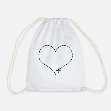 Cut Out Heart to cut out - Drawstring Bag
