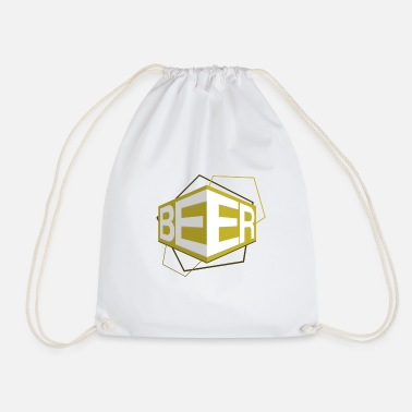 3D Beer Logo GOLD - Drawstring Bag