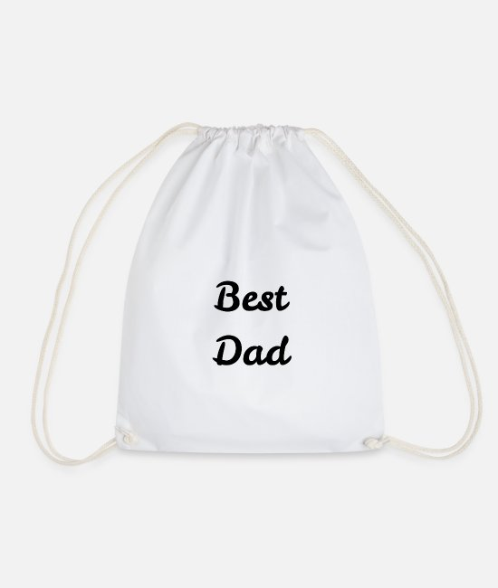 Father's Day Bags & Backpacks - best DAD - Drawstring Bag white
