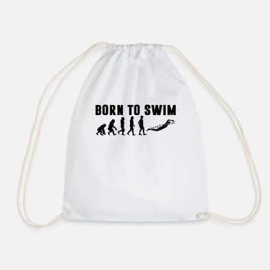 Swim Born to swim! - Drawstring Bag