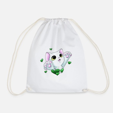 Smudge Smudge Hug (Green Hearts) - Drawstring Bag