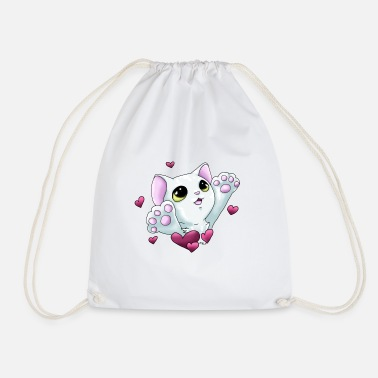 Smudge Smudge Hug (Pink Hearts) - Drawstring Bag