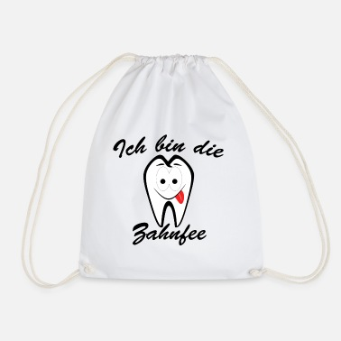 Tooth The funny tooth fairy - Drawstring Bag
