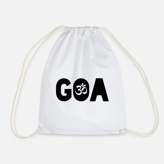 Goa Bags & Backpacks - Goa Psytrance Rave - Drawstring Bag white