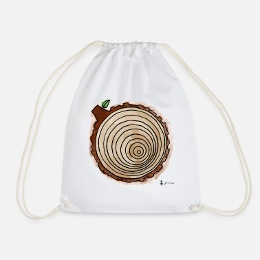 Annual Annual rings - Drawstring Bag