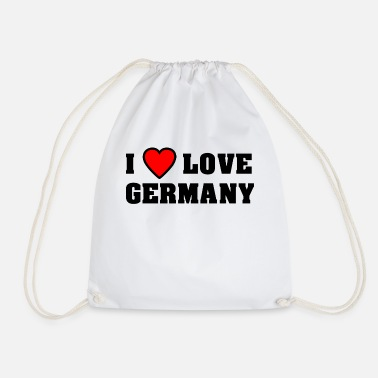 Fatherland I love Germany The Fatherland Pride in love - Drawstring Bag