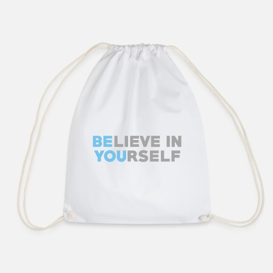 Credere Borse & Zaini - Be You - Believe Idea regalo - Sacca sportiva bianco
