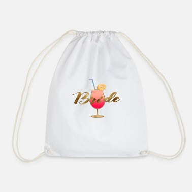 Coctail Customizable Coctail Team Bride 1 - Drawstring Bag