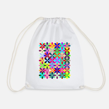 Animo Colorful Flowers - Drawstring Bag