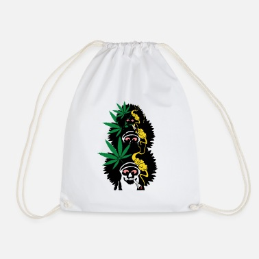 Reaper Weed with Three Friends - Drawstring Bag