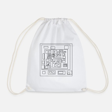 Rectangle rectangles - Drawstring Bag