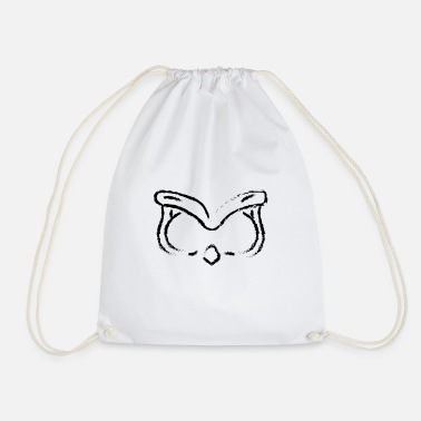 Cepillo ANIMAL FACE OWL BLACK - Mochila saco