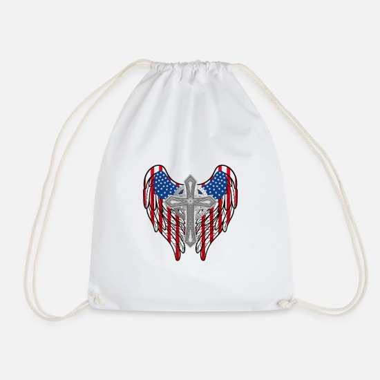 Usa Bags & Backpacks - u s a - Drawstring Bag white