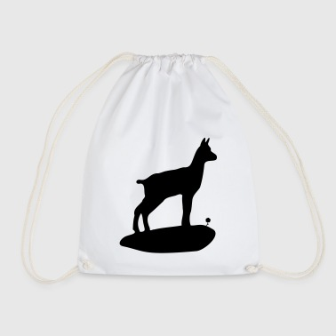 The baby chamois and the flower - Drawstring Bag