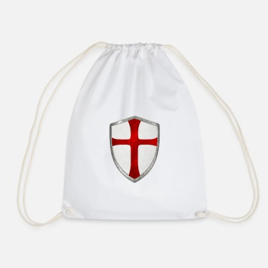 Crusade crusader cross templar shield crusade - Drawstring Bag