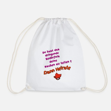 Marry Then marry - Drawstring Bag