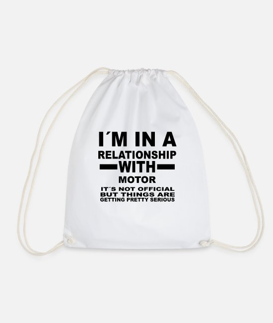 Office Bags & Backpacks - relationship with MOTOR SPORTS - Drawstring Bag white