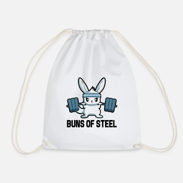 Sportstudio Fitness Bunny Motivation Gym Dumbbell Sport Gift - Sac à dos cordon