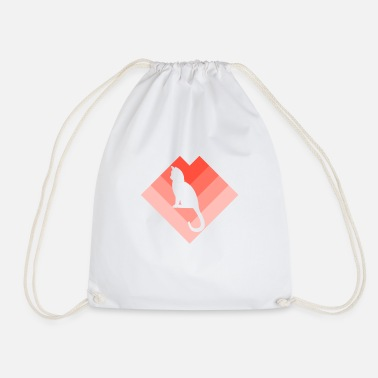 Domestic Cat domestic cat - Drawstring Bag