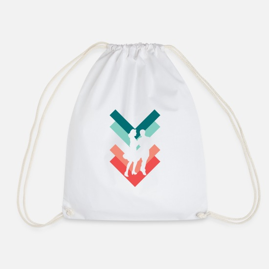 Dance Class Bags & Backpacks - couple - Drawstring Bag white