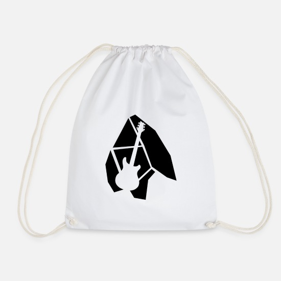 Guitar Player Bags & Backpacks - electric guitar - Drawstring Bag white