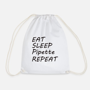 Pipettes BIOLOGY: Eat Sleep Pipette - Drawstring Bag