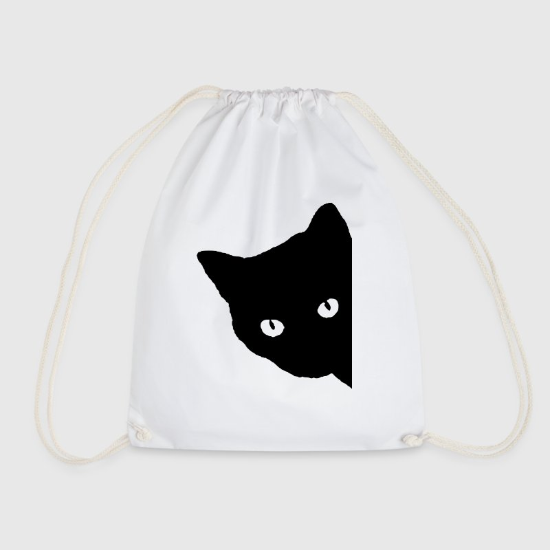 Cat silhouette - Drawstring Bag