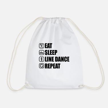 f3a49e53a4f8c Linedance Linedance repeat T-Shirt Geschenk - Turnbeutel
