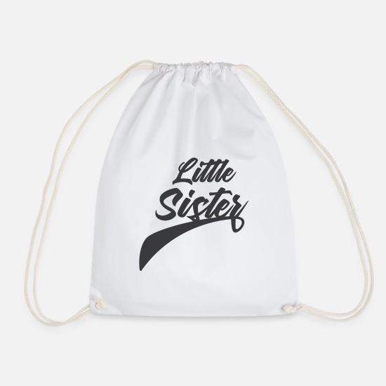 Mother Bags & Backpacks - Little sister - Drawstring Bag white