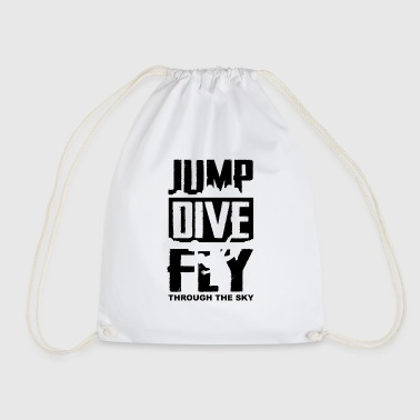 Skyrim Jump, Dive, Fly - Fallschrim - Drawstring Bag