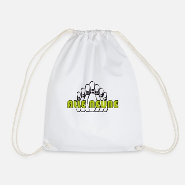 All Nine ALL NINE - Shirt for bowling with cone brothers! - Drawstring Bag