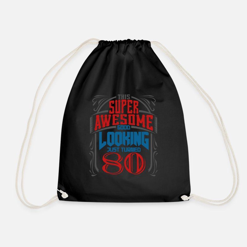 80th Birthday Saying Gift Drawstring Bag