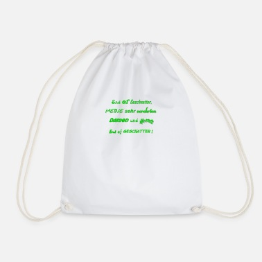 Chatter End of chatter - ACTs instead of words - Drawstring Bag