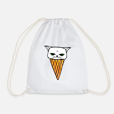 Icecream Cat icecream - Drawstring Bag