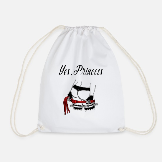 Sub Bags & Backpacks - BDSM princess bondage roast domina mistress - Drawstring Bag white