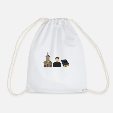 Catholic Catholic catholic priest church christ - Drawstring Bag