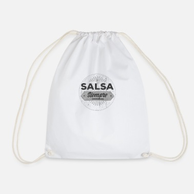 Dancer Salsa Dancer Gift Retro T-Shirt - Drawstring Bag