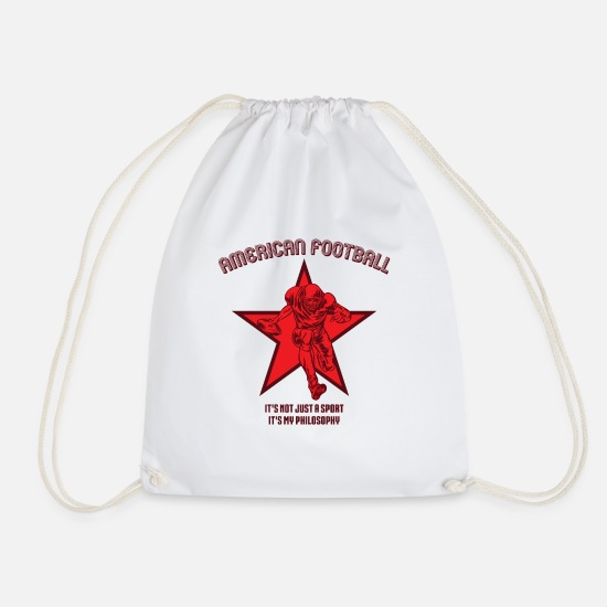 American Football Bags & Backpacks - American football sports philosophy - Drawstring Bag white