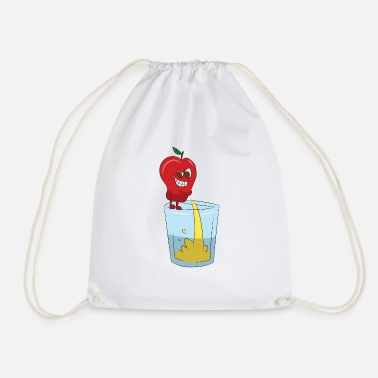 Apple Juice Apple pees in the glass, delicious apple juice - Drawstring Bag