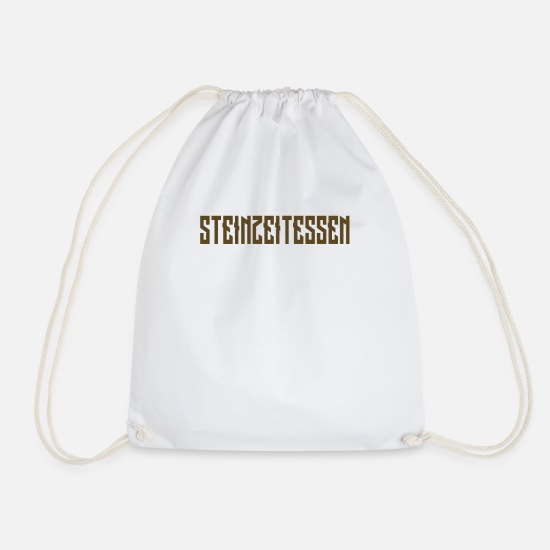 Food Bags & Backpacks - Stone Age food - Drawstring Bag white