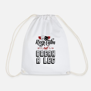 Keep Calm Underwear funny theater shirt - Drawstring Bag