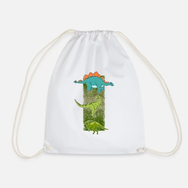 Stegosaur Dinosaur collection Stegosaur Dinos - Drawstring Bag