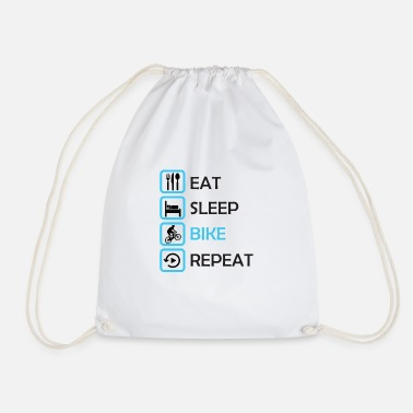 MTB Downhill Style - Eat, Sleep, Bike, Repeat - Drawstring Bag