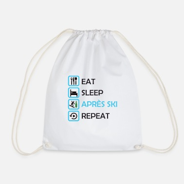 Après Ski - Eat, Sleep, Apres Ski, Repeat - Drawstring Bag