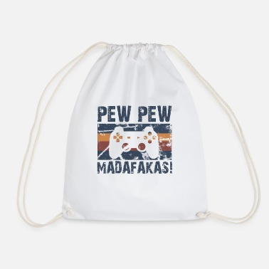 Pew Pew Madafakas! Gamer insider saying - Drawstring Bag