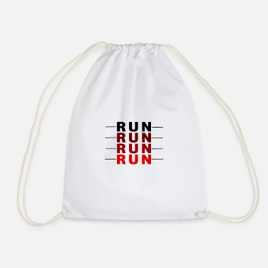 Run run run run - Drawstring Bag