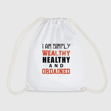 I am simply Wealthy Healthy And Ordained (WHAO) - Drawstring Bag