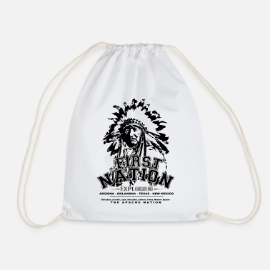 National First Nation The Apache Nation - Drawstring Bag