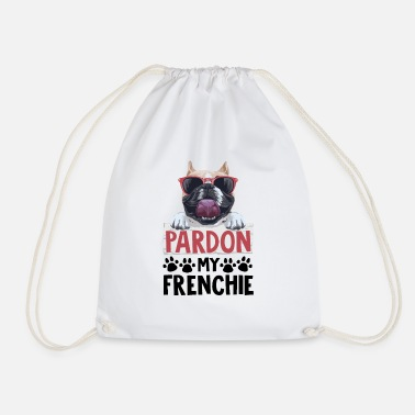 Pardon Pardon my frenchie - Drawstring Bag