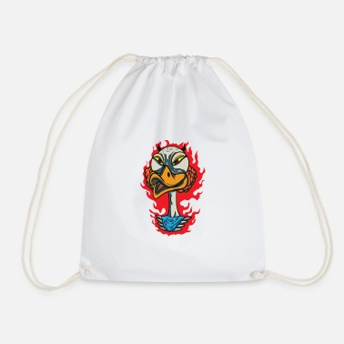 Angry Animals Angry Duck Face - Drawstring Bag
